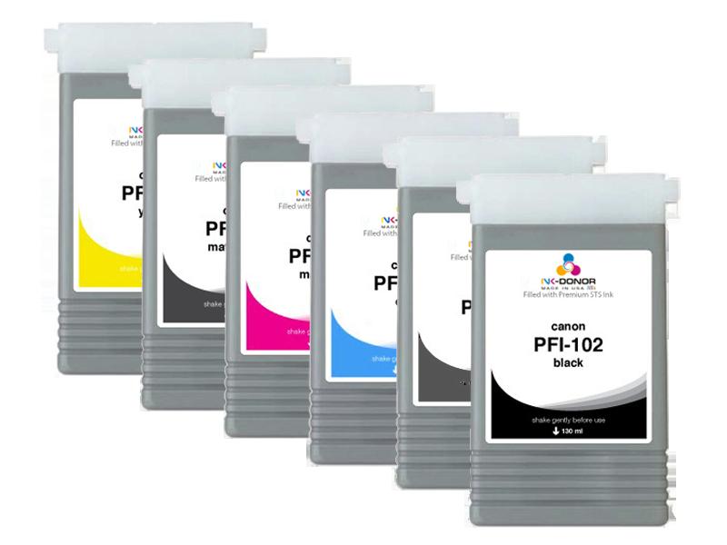 Картриджи для Canon PFI-102  PFI-104M 6x130мл